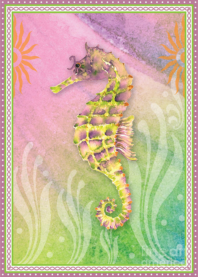 Seahorse Violet Painting
