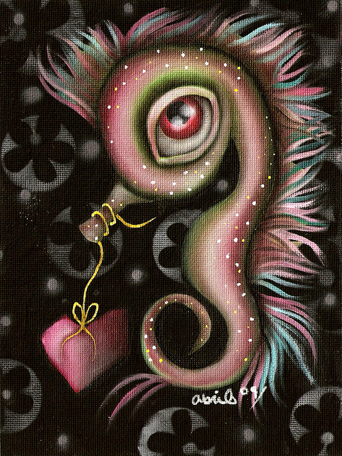 Seahorse Painting - Seahorse With Heart by  Abril Andrade Griffith