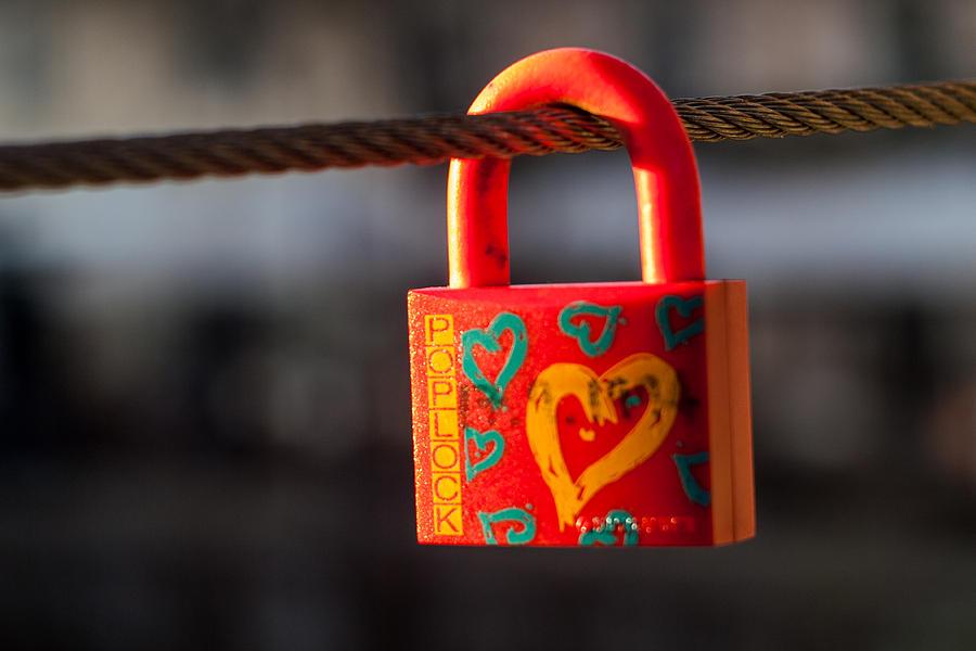 Lock Photograph - Sealed Love by Davorin Mance