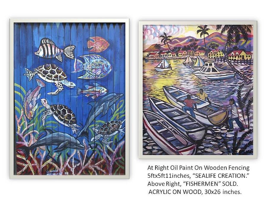 Sealife Creation Painting by Glendon McFarlane