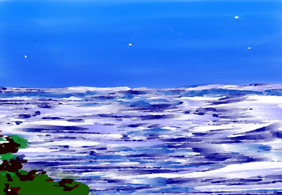 Sea.moon Light Digital Art by Dr Loifer Vladimir