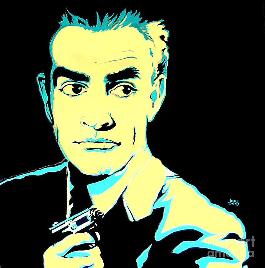 Pierce Brosnan Wall Art - Painting - Sean Connery 007 James Bond by Margaret Juul  sc 1 st  Fine Art America & Pierce Brosnan Art | Fine Art America