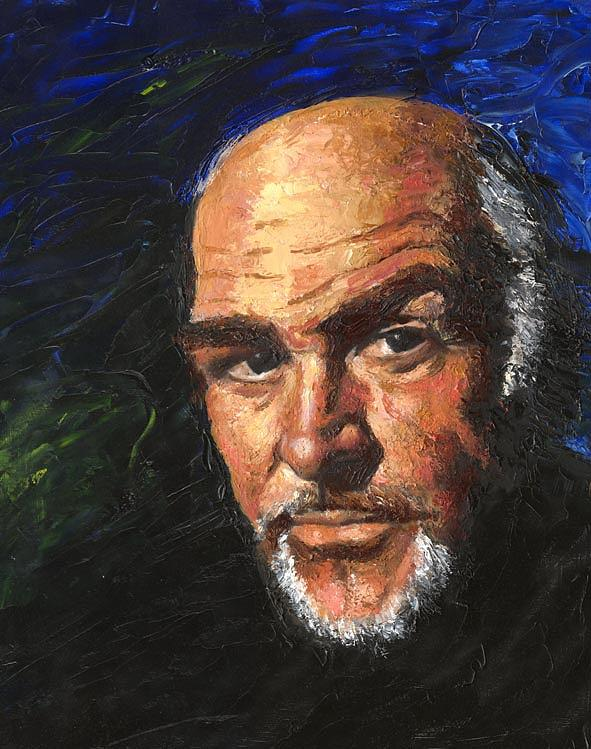 Sean Connery Painting by Debora Calicchia