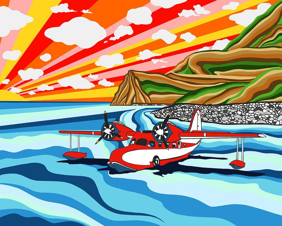 Seaplane Digital Art - Seaplane 2 by Carlos Martinez