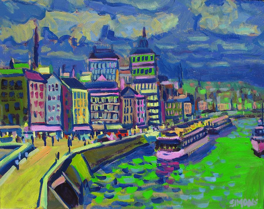 Paintings Painting - Seaport by Brian Simons