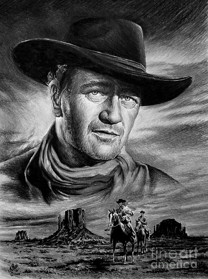 John Wayne Painting - Searching by Andrew Read