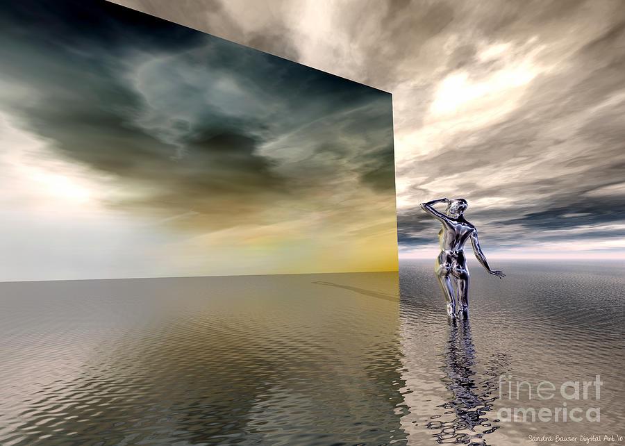 Bryce Digital Art - Searching by Sandra Bauser Digital Art