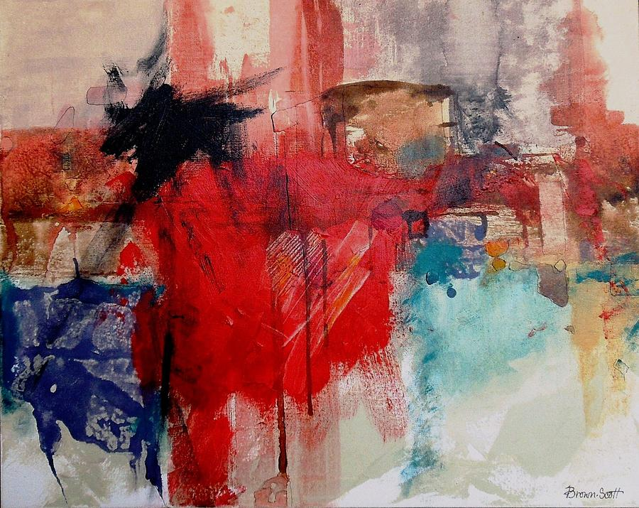 Mixed Media Collage Mixed Media - Searching Singapore by Jo Ann Brown-Scott