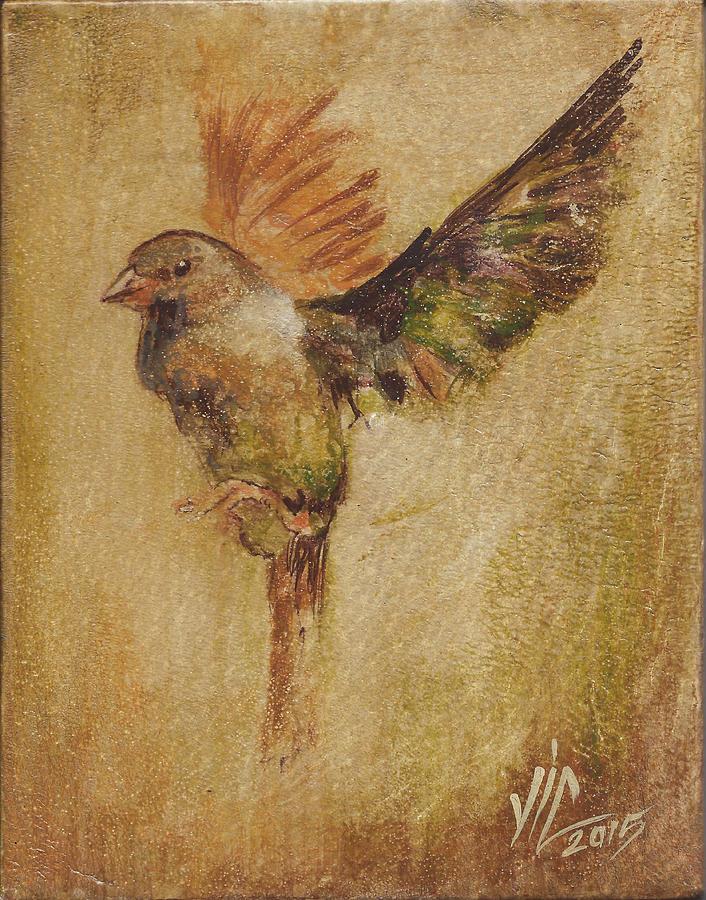 Bird Painting - Searching by Vali Irina Ciobanu