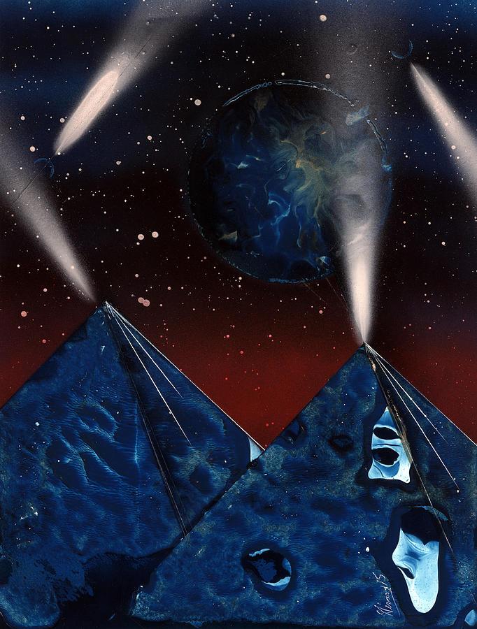 Lights Painting - Searchlights by Jason Girard