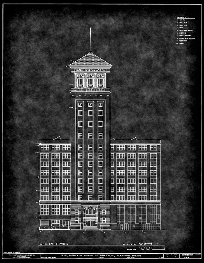 Sears roebuck and co tower blueprint digital art by daniel hagerman sears digital art sears roebuck and co tower blueprint by daniel hagerman malvernweather Image collections