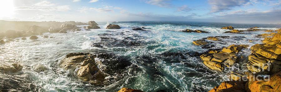 Panorama Photograph - Seas Of The Wild West Coast Of Tasmania by Jorgo Photography - Wall Art Gallery