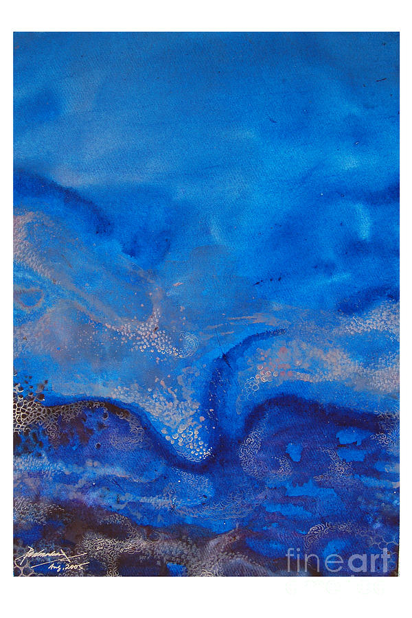 Abstract Painting - Seascape-1 by Padmakar Kappagantula