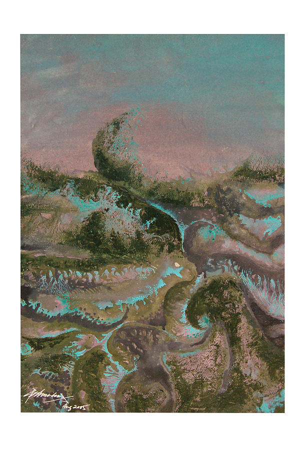 Abstract Painting - Seascape-2 by Padmakar Kappagantula