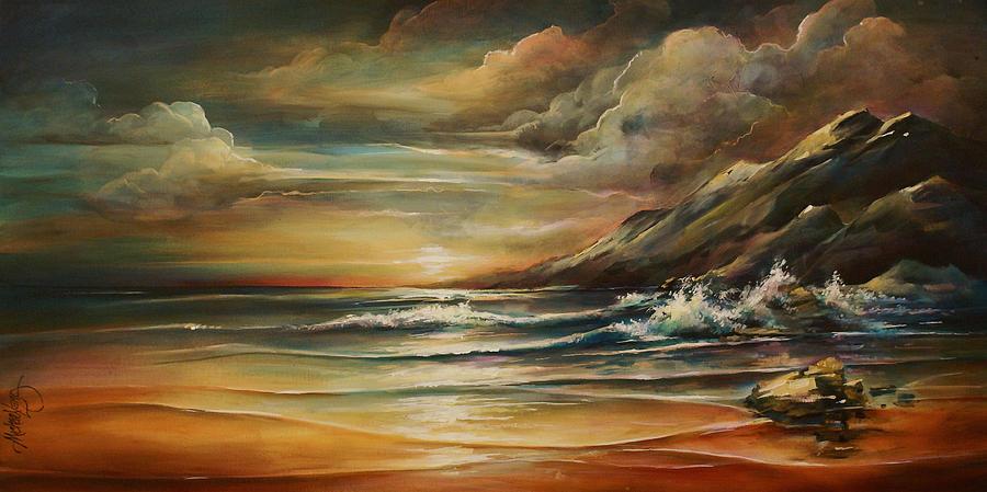 Seascape Painting - Seascape 3 by Michael Lang