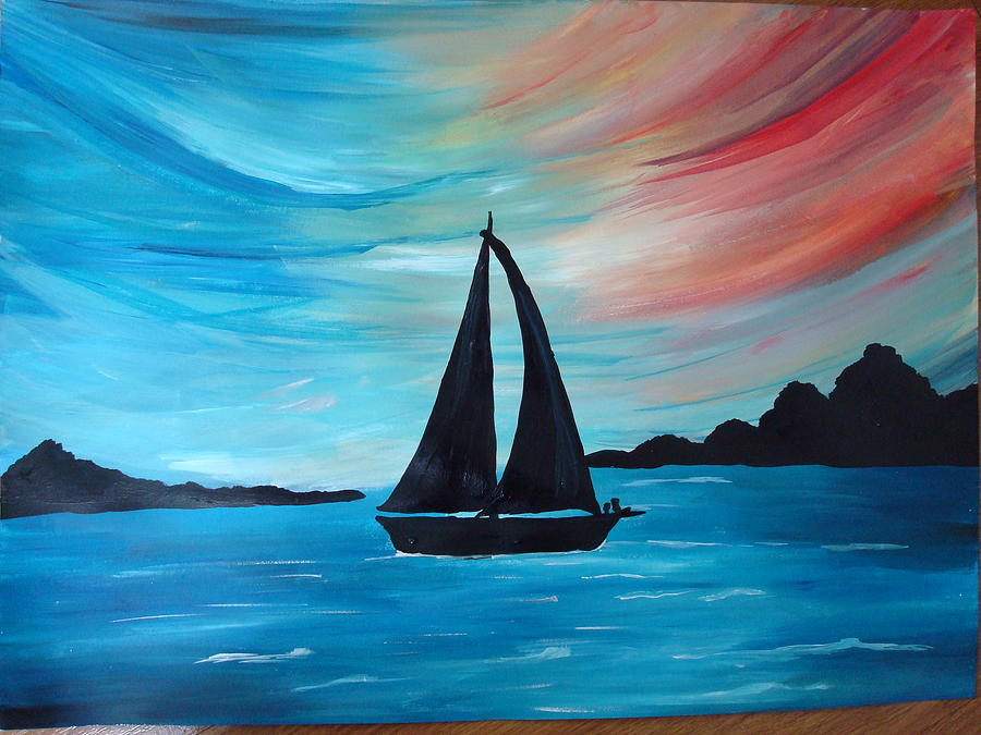 Seascape Painting - Seascape by Saran A N