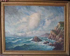Coastal Painting - Seascape by Carl Vinther