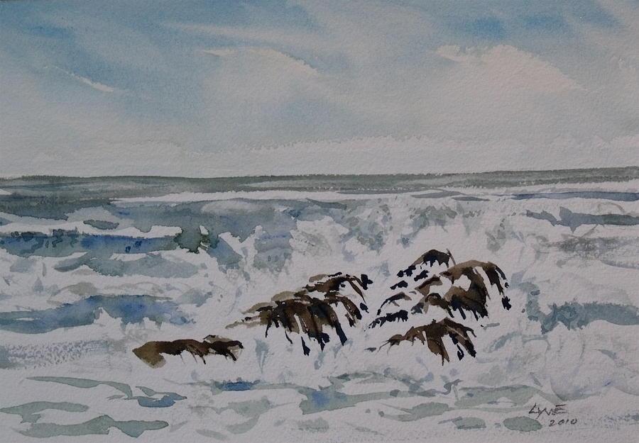 Oregon Coast Painting - Seascape Ester Lee by Lynne Haines