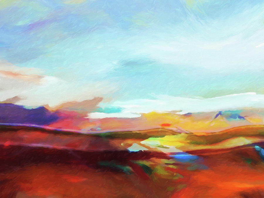 Seascape Painting - Seascape Expression by Lutz Baar