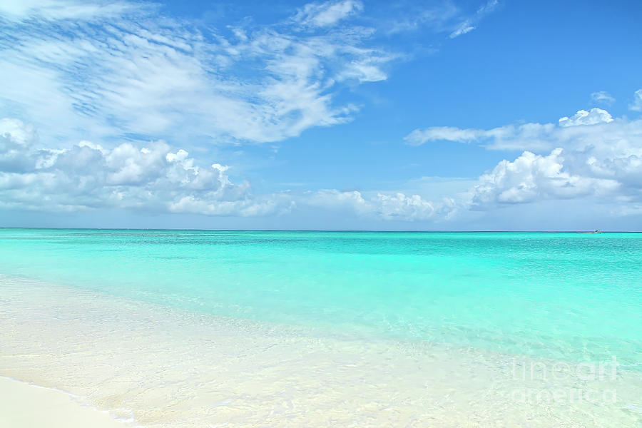 Nature Photograph - Seascape in Grace Bay, Turks and Caicos by Julia Hiebaum