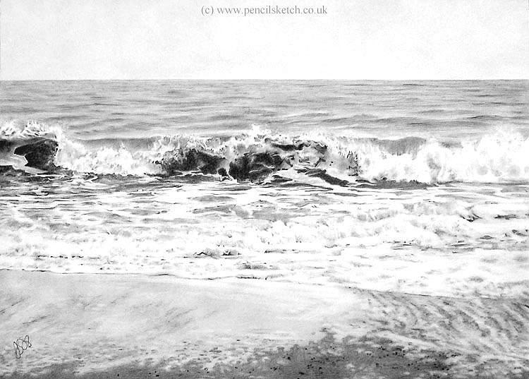 Image result for sea pencil sketch