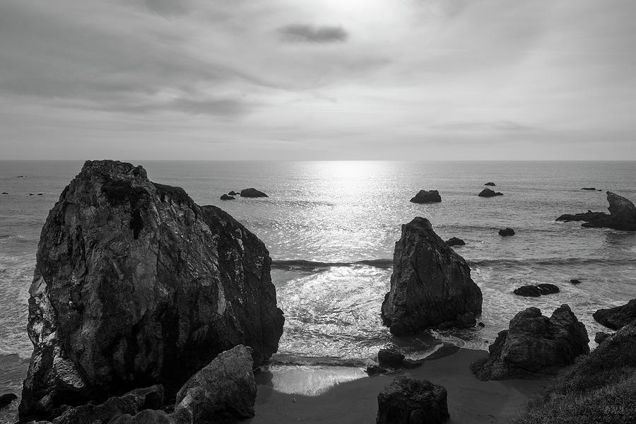 Pacific Photograph - Seascape Jenner California IIi Bw by David Gordon