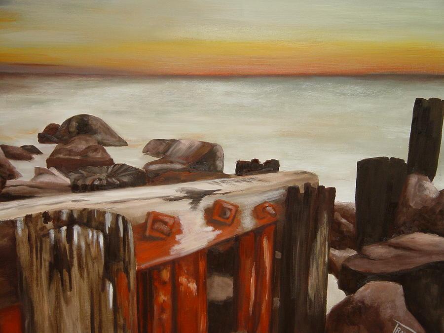 Seascape Painting - Seascape by Johan Trollip