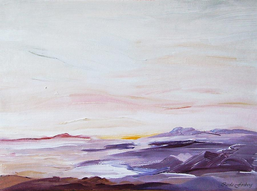 Seascape Nr 1 Painting by Carola Ann-Margret Forsberg