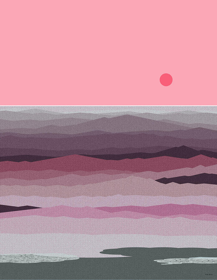 Val Arie Digital Art - Seascape Pinks by Val Arie