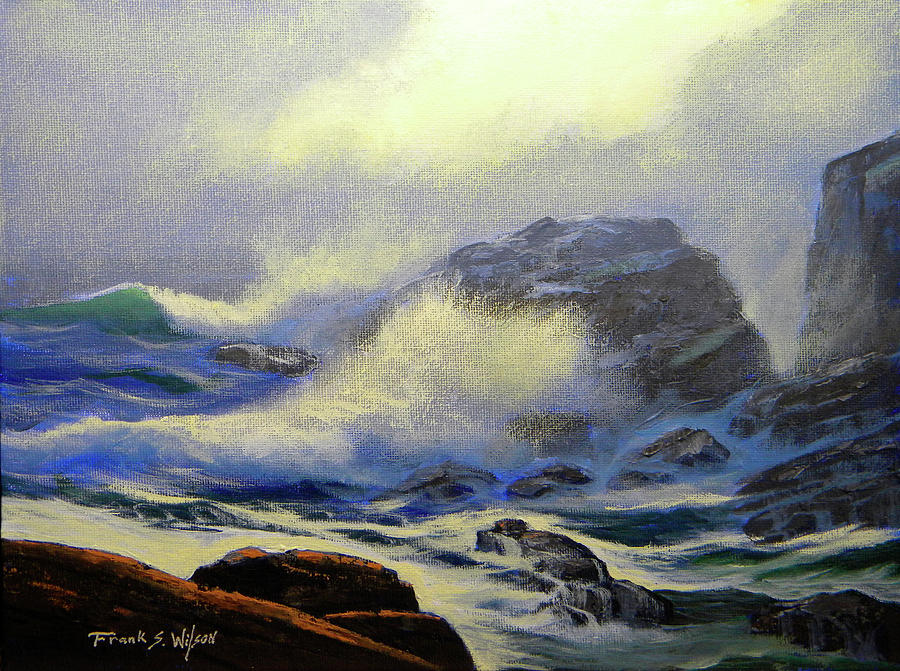 Surf Painting - Seascape Study 8 by Frank Wilson