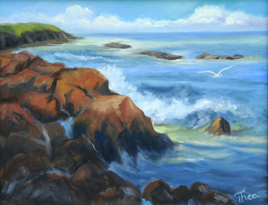 Sea Painting - Seascape by Thea Wolff