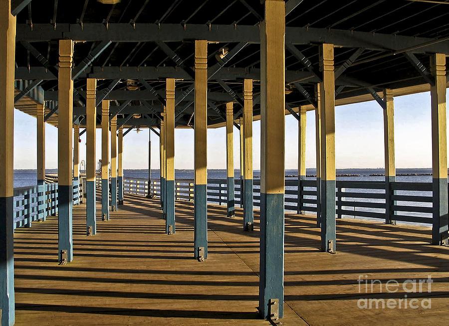 Seascape Photograph - Seascape Walk On The Pier by Carol F Austin