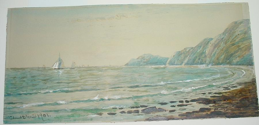 Seascape With Sailboats Painting by Edmund Darch Lewis