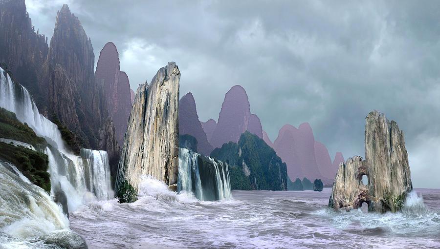Digital Digital Art - Seashore 1 by Valeriy Mavlo
