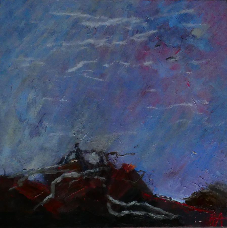 Sky Painting - Seashore by Irena Jablonski