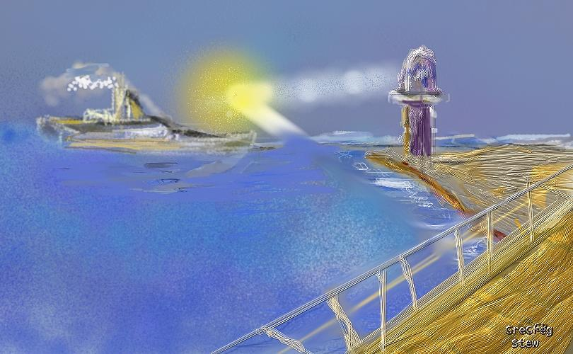 Lighthouse Digital Art - Seashore Lighthouse by Gregory Steward