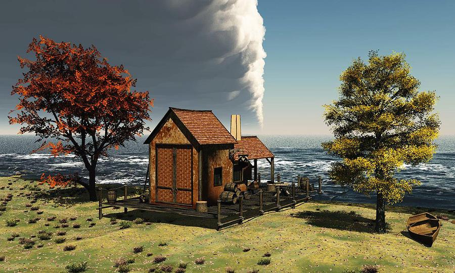 Seaside Cottage by John Junek