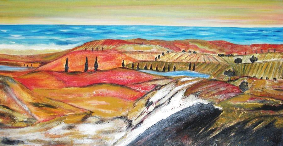 Seaside Painting - Seaside In Marocco by Hannelore Amon