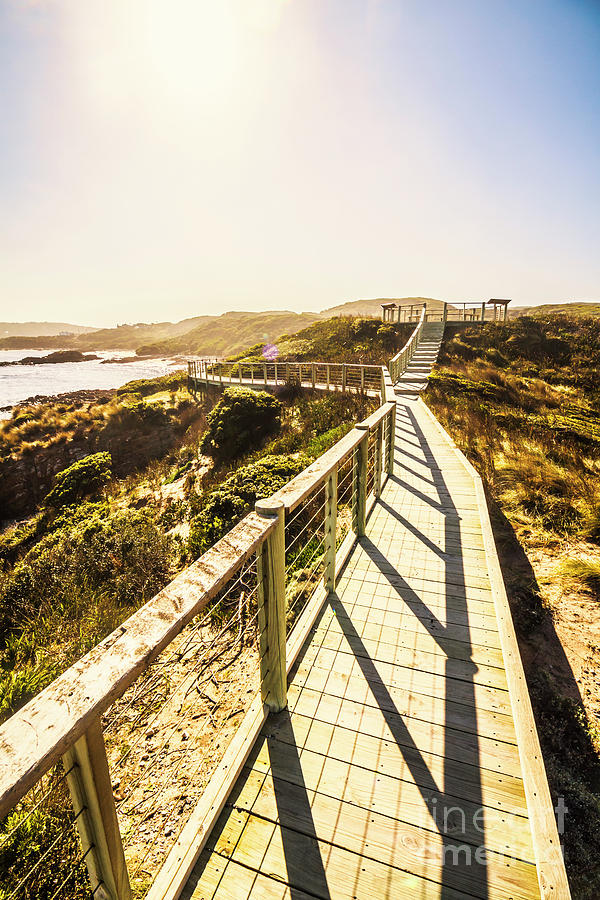 Promenade Photograph - Seaside Perspective by Jorgo Photography - Wall Art Gallery