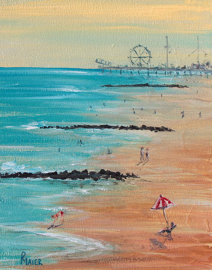 Beach Painting - Seaside by Pete Maier