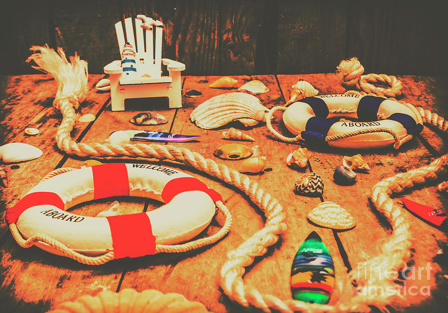 Nautical Photograph - Seaside Ropes And Nautical Decks by Jorgo Photography - Wall Art Gallery