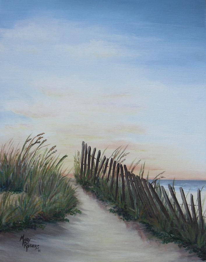 Landscape Painting - Seaside Sunrise by Mary Rogers