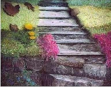 Steps Painting - Season Present Season Past by Brian Higgins