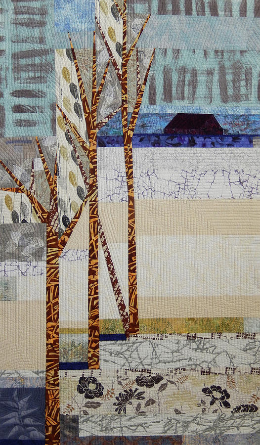 Landscape Tapestry - Textile - Seasonal Remembrance by Linda Beach
