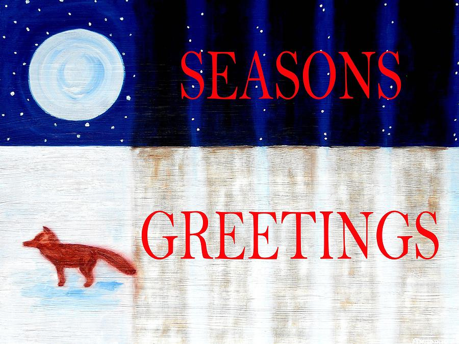 Wildlife Painting - Seasons Greetings 13 by Patrick J Murphy