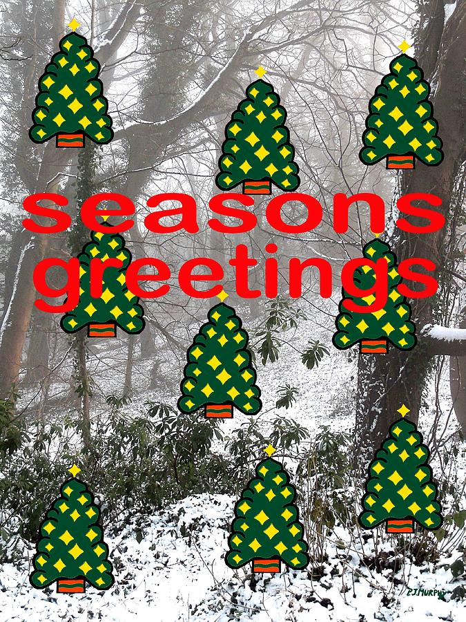 Christmas Painting - Seasons Greetings 8 by Patrick J Murphy