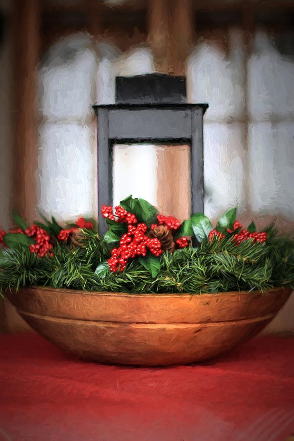 Seasons Greetings Christmas Centerpiece by Shelley Neff