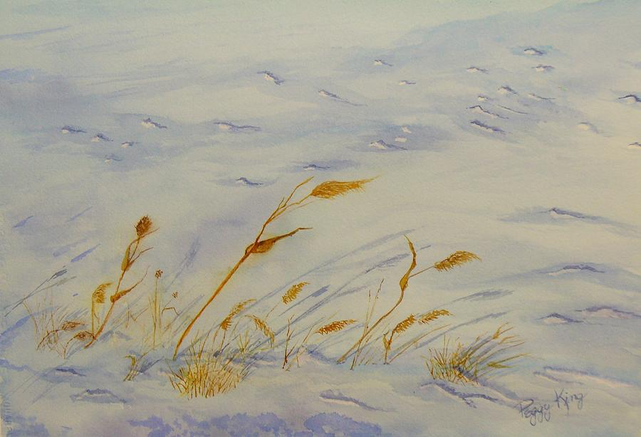Snow Painting - Seasons Past by Peggy King