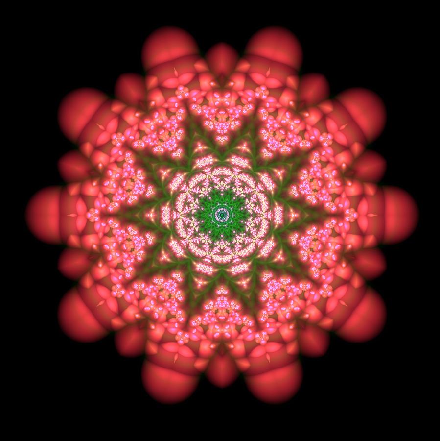 Mandala Digital Art - Seastar Lightmandala  by Robert Thalmeier