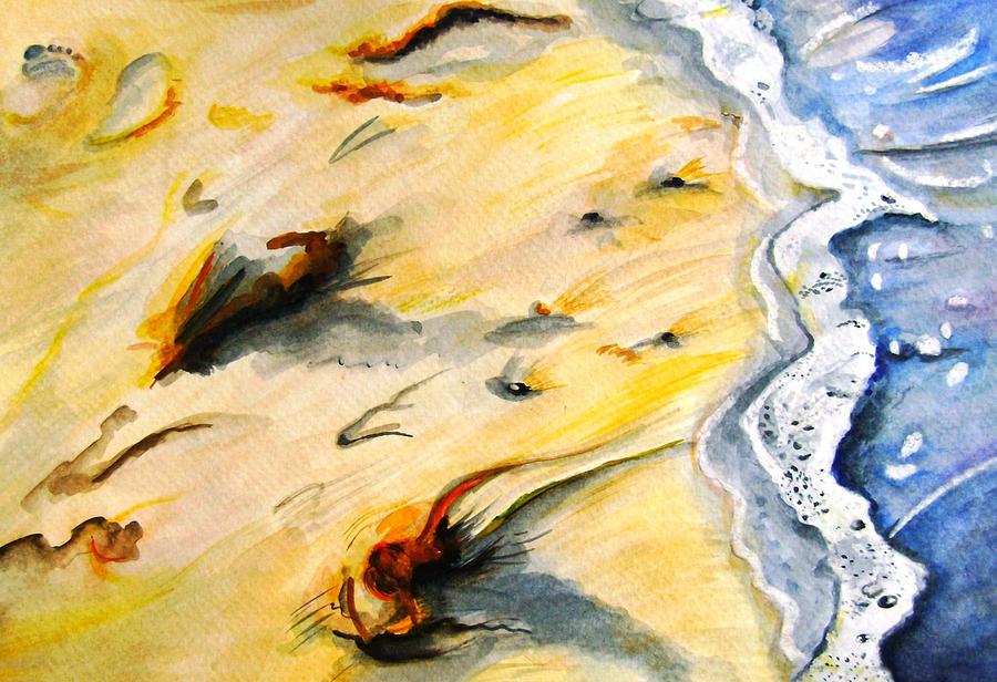 Ocean Painting - Seaswept by Marsha Hale